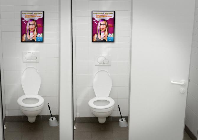 Amazon  julianarebelo -> Avisos Banheiro Feminino