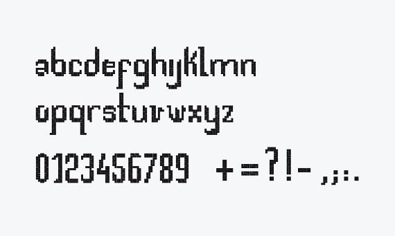 tetris font