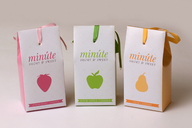 minute candies packaging   rachel graphic design